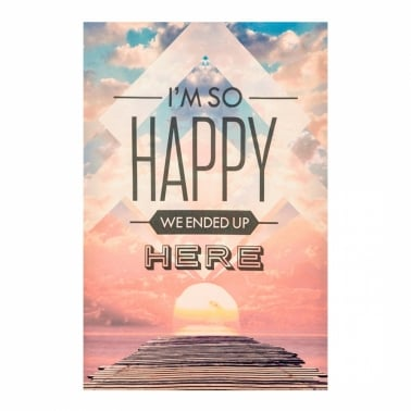 Affiche Typographique - Happy
