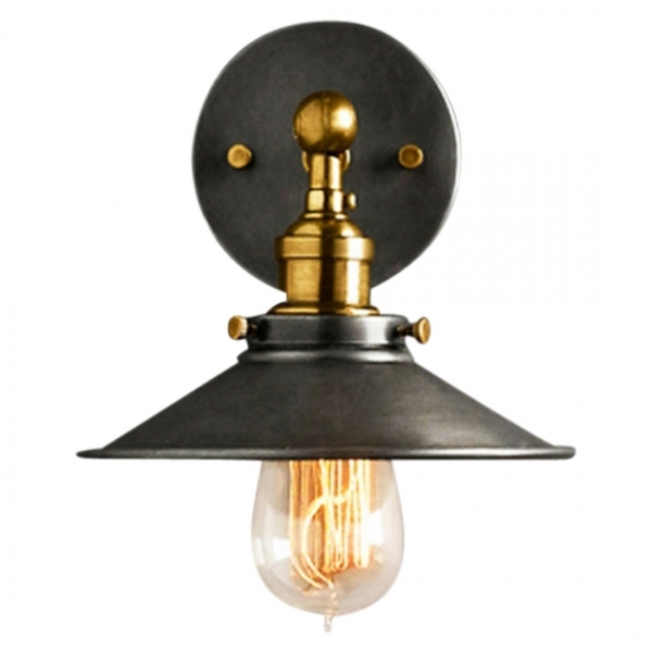 Applique Murale Industrielle Noire En Metal Lampe Vintage Cult Uk