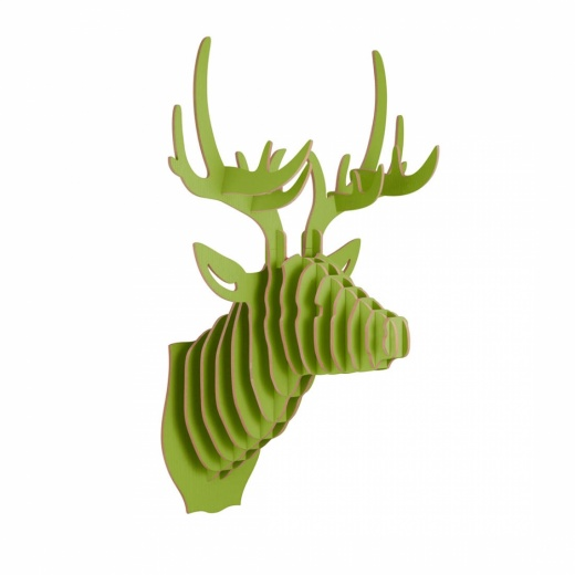 Safari Life Art de Mur 3D, Tête d'Animal en Bois, Cerf