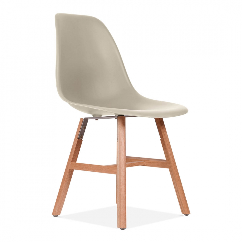 Chaise eames inspired daw beige avec pieds style windsor for Style de chaise