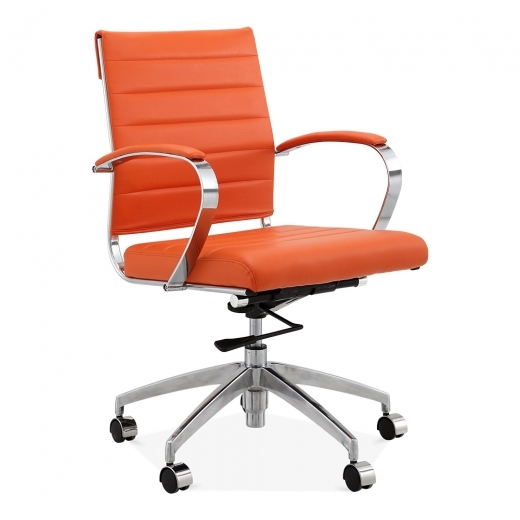 Cult Living Chaise de Bureau Deluxe à Dossier Court - Orange