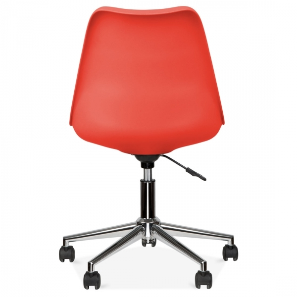 chaise eames inspired rouge avec pieds en croix m talliques cult uk. Black Bedroom Furniture Sets. Home Design Ideas
