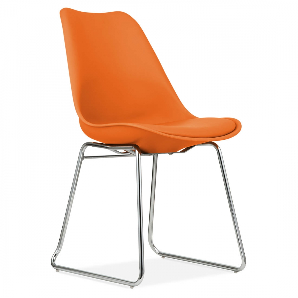 chaise de salle a manger orange