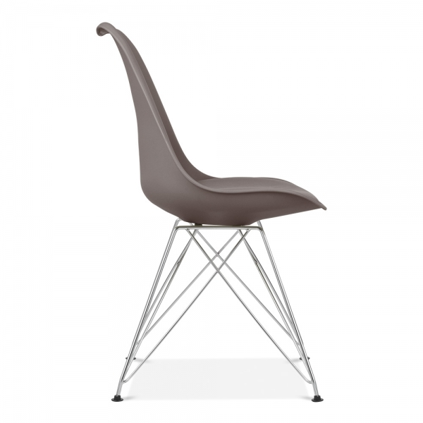 Dining Chair With Eiffel Metal Legs