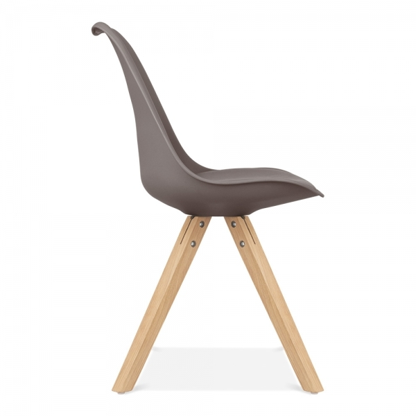 Chaise Eames Inspired Gris Chaud Avec Pieds Pyramide En