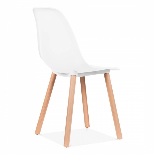 Chaise de salle a manger blanche table et chaises design for Chaise contemporaine blanche