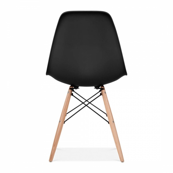 DSW Style Plastic Dining Chair Black