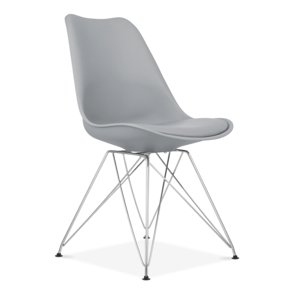 chaise design eames inspired grise avec pieds eiffel en m tal cult uk. Black Bedroom Furniture Sets. Home Design Ideas