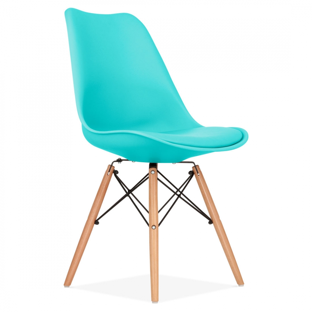 chaise de salle manger triangle turquoise avec pieds dsw. Black Bedroom Furniture Sets. Home Design Ideas