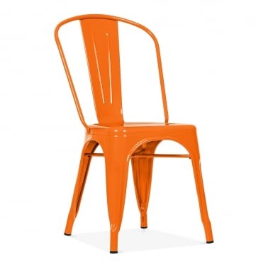 Chaise de Style Tolix  - Orange