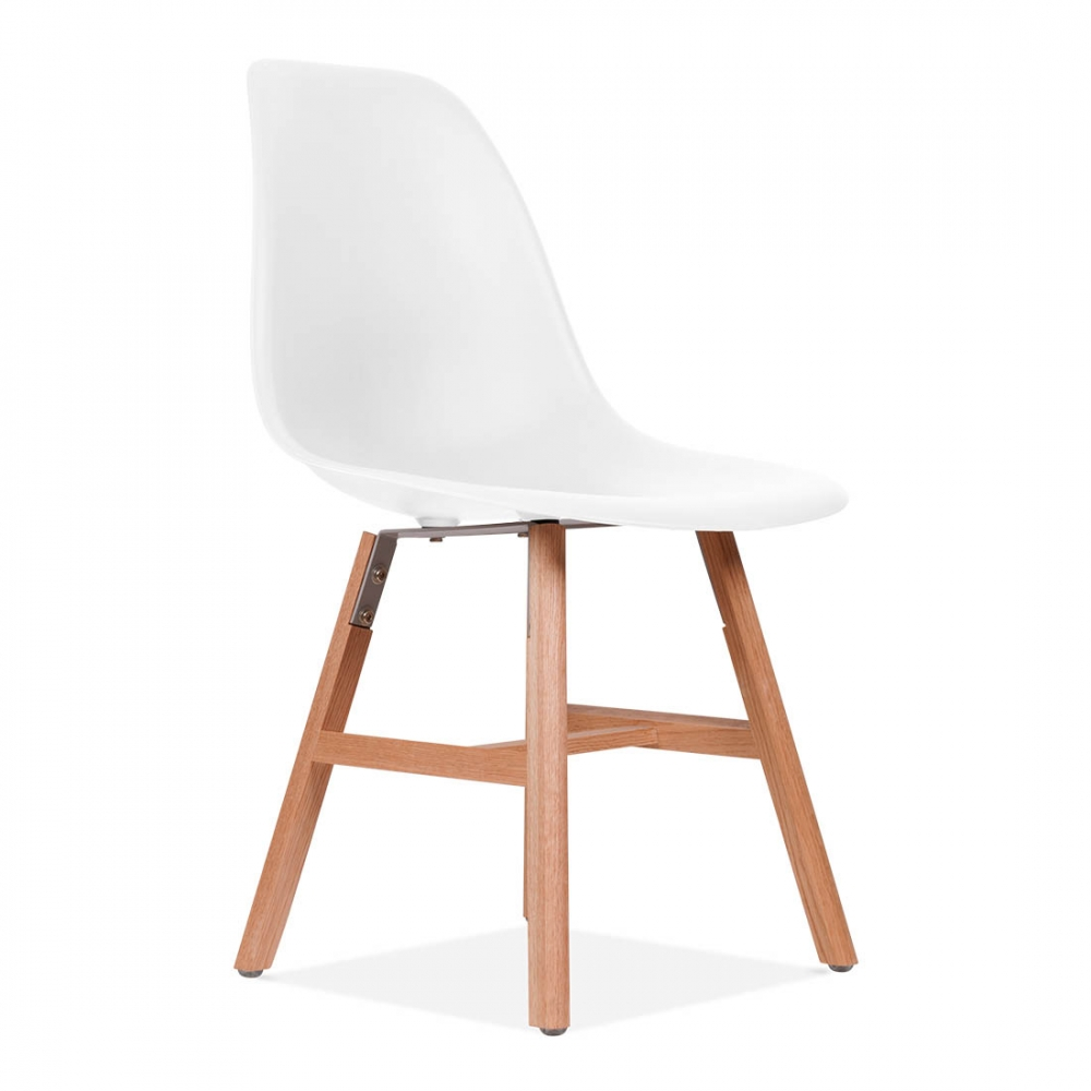 Chaise eames inspired dsw blanche avec pied style windsor for Chaise eames dsw style blanc