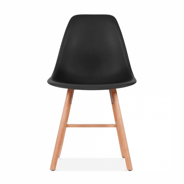 Chaise eames inspired dsw noire avec pieds style windsor for Chaise dsw noir