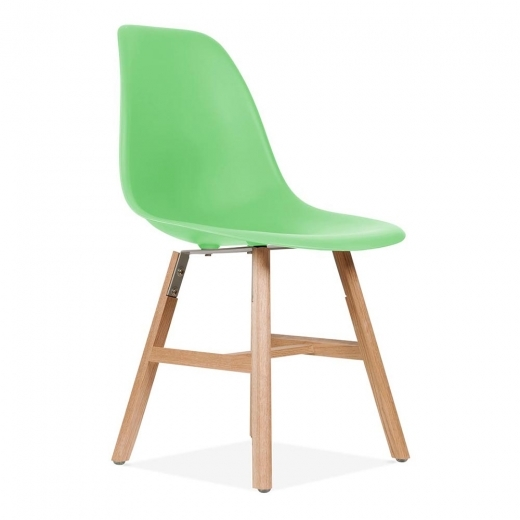 Eames Inspired Chaise DSW avec des pieds style 'Windsor' - Vert vif