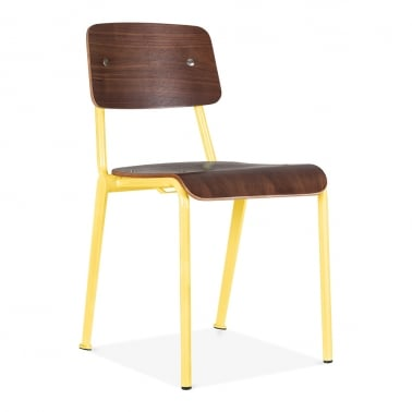 Chaise School avec Option de Finition en Bois – Jaune