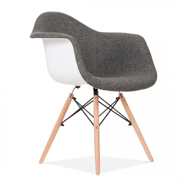 Upholstered Grey DAW Style Chair