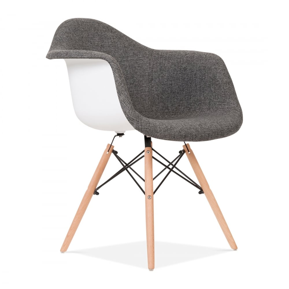 Upholstered grey daw style chair cult uk for Soldes chaises eames