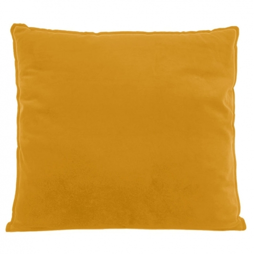 Present Time Coussin de Sol Extra Large, Tissu Velours, Moutarde