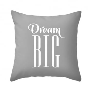Coussin Dream Big – Gris