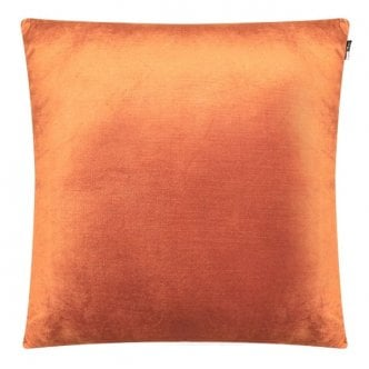 Coussin en Velours Uni, Orange