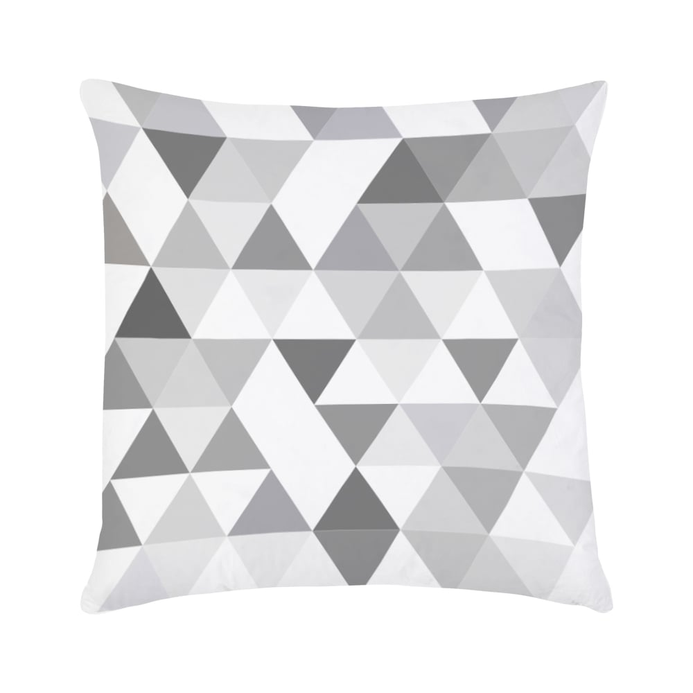 geometric triangle cushion in grey cult furniture uk. Black Bedroom Furniture Sets. Home Design Ideas