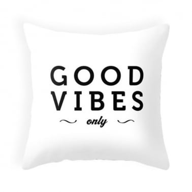 Coussin Good Vibes Only – Blanc