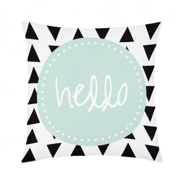 Coussin Hello – Blanc