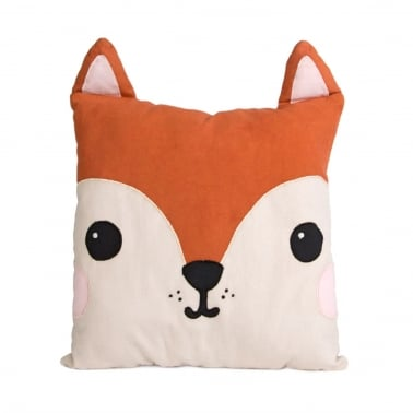 Coussin Renard Hiro en Coton Kawaii Friends, Orange