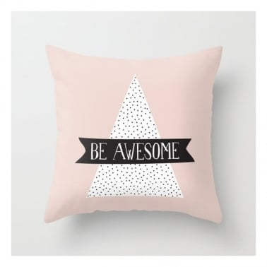 Coussin Scandinave Be Awesome – Rose