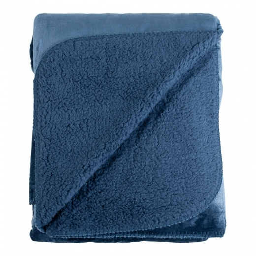 Cult Living Couverture Polaire Super Confort, Bleu