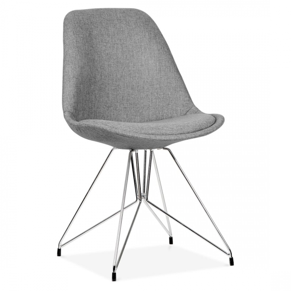 Chaise Eames Inspired Turquoise Avec Pieds Eiffel En Metal