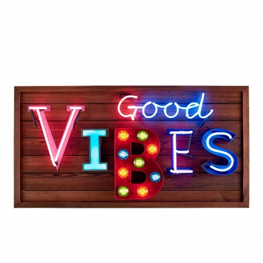 Cult Living Enseigne lumineuse LED Good Vibes