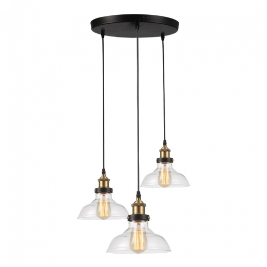 Cult Living Factory Lampe à Triple Suspension en Verre - Option de Couleur