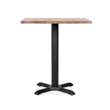 Galant Table Carrée de Café - Noir / Finition Naturel 70cm