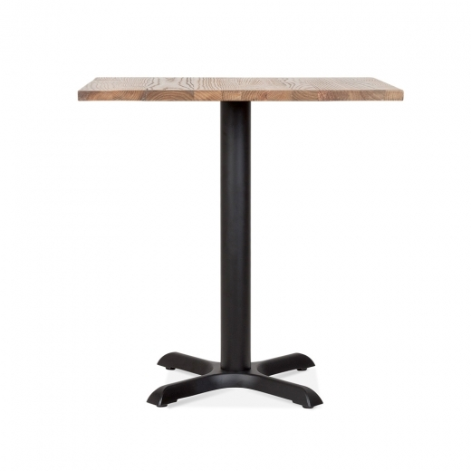 Cult Living Galant Table Carrée de Café - Noir / Finition Naturel 80cm