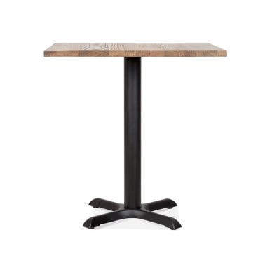 Galant Table Carrée de Café - Noir / Finition Naturel 80cm