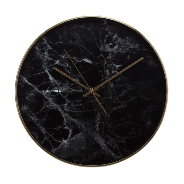 horloge murale en marbre structure par cloudnola cult. Black Bedroom Furniture Sets. Home Design Ideas