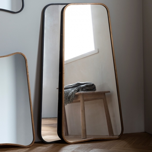 Inca Contemporary Full Length Leaner Mirror, Or