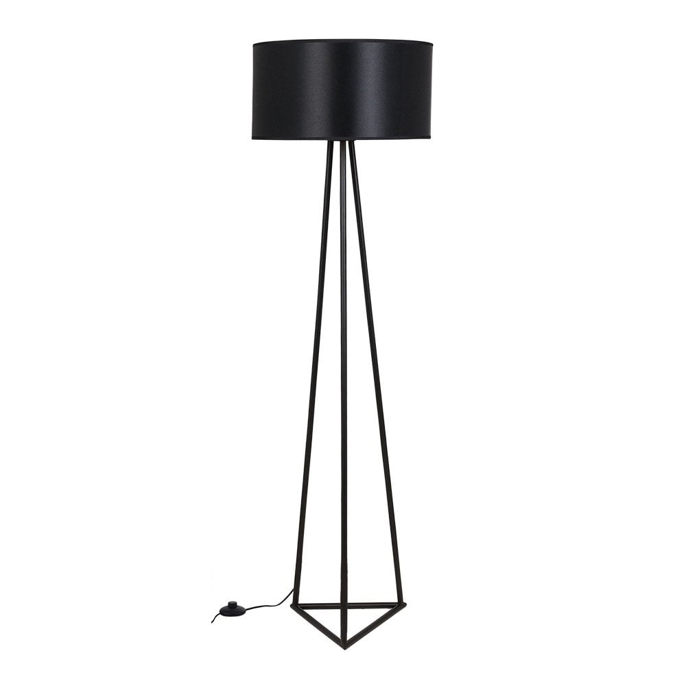 noir et cuivr lampadaire en m tal orion clairage moderne. Black Bedroom Furniture Sets. Home Design Ideas