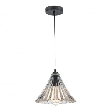 Lampe à Suspension en Verre Pleat - Clair