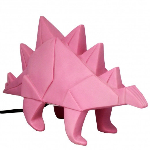 Disaster Designs Lampe de Table Géométrique Dinosaure Stégosaure LED, Rose