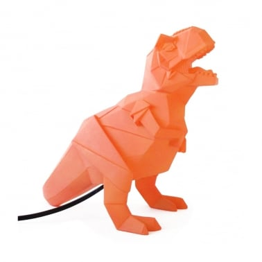 Lampe LED T-Rex Géométrique - Orange
