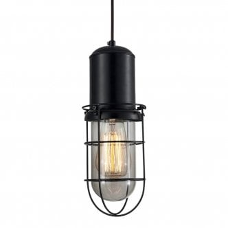 Lampe Suspension en Cage Portside - Noir