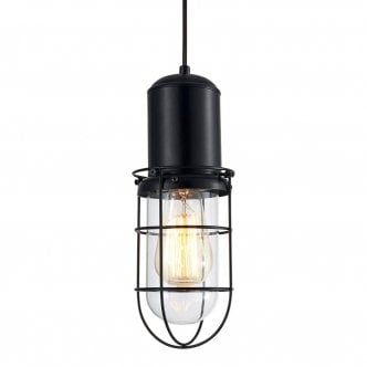 Lampe Suspension en Cage Portside - Transparent