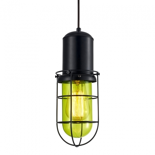 Cult Living Lampe Suspension en Cage Portside - Vert Vif