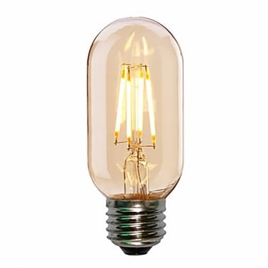 LED T45 4W Ampoule en Verre Fumé mini Tube Filament - E27