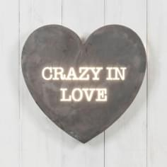 Mini Lightbox Cœur - Crazy In Love