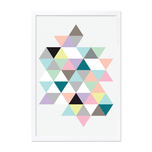Cult Design Moda Triangles Encadrée Impression - A2 / A0