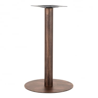 Pied de Table de Café Arleigh en Acier Inoxydable, Finition en Laiton vintage