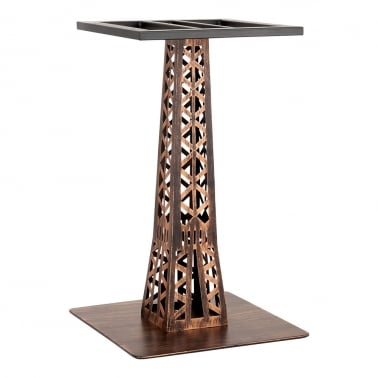 Pied de Table de Café Eiffel en Acier Inoxydable, Vintage Brass Finish
