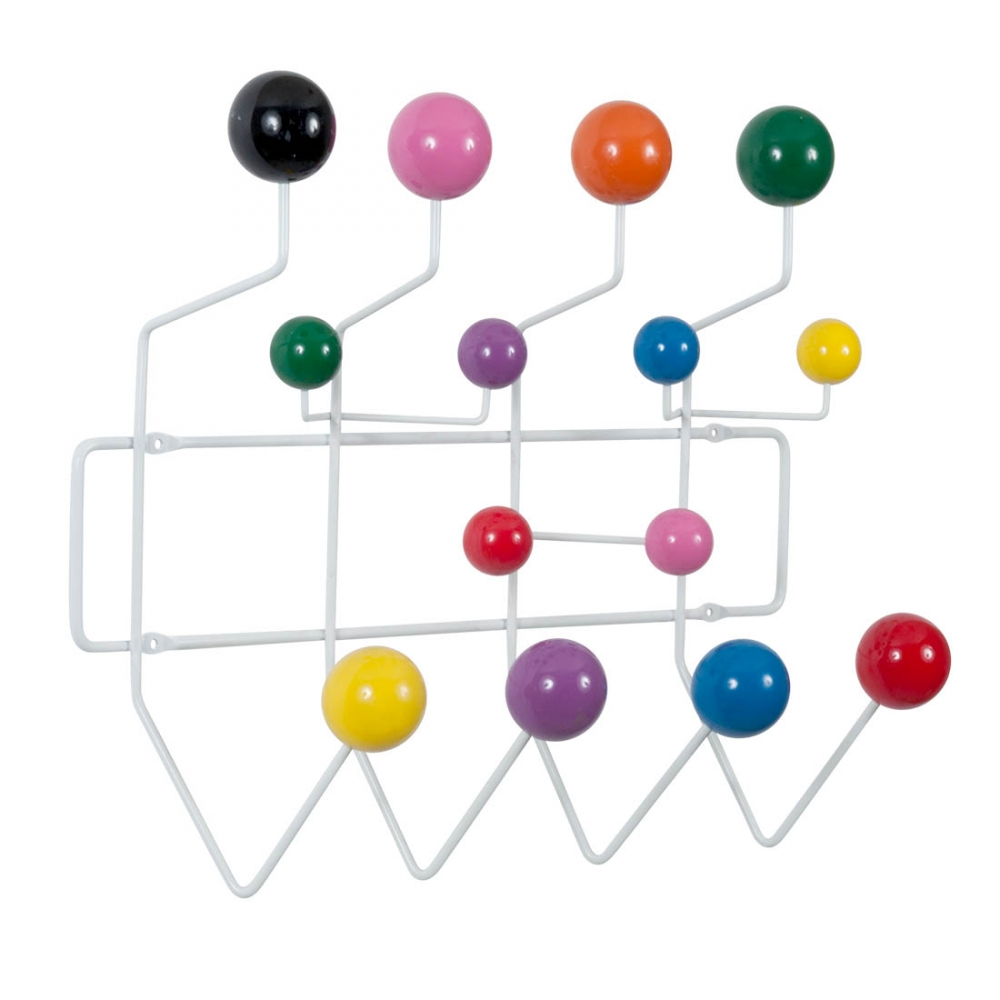 porte manteau hang it all blanc avec boules multicolores. Black Bedroom Furniture Sets. Home Design Ideas